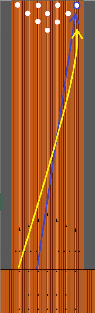 10番ピンの取り方軌道