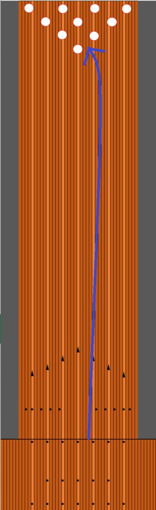 3番スパットを通すフックボールの軌道